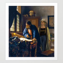 The Doctor and Vermeer's Geographer Art Print