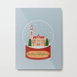 Merry Christmas- Bay City City Hall Metal Print