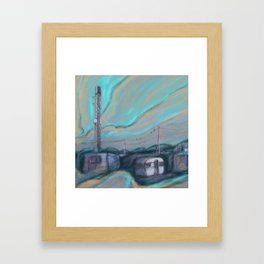 Masts, dishes and wires Framed Art Print
