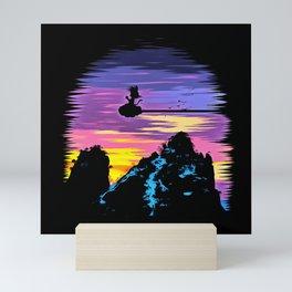 little goku Mini Art Print
