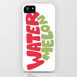 Watermelon Typography iPhone Case