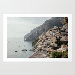 Positano Amalfi Coast Italy Art Print