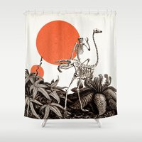death Shower Curtains featuring Death by Dorian Danielsen