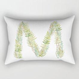 Initial M Rectangular Pillow