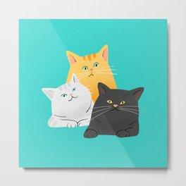 3cats Metal Print