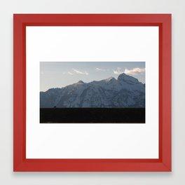 Bison On A Ridge Framed Art Print