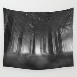 Soul of the Forest B&W Wall Tapestry