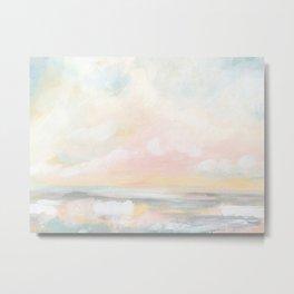 Rebirth - Pastel Ocean Seascape Metal Print