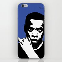 jay z iPhone & iPod Skins featuring Jay Z by Gary Barling