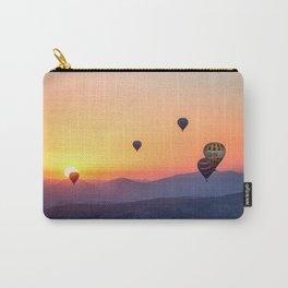 hot air balloon adventure #society6 #decor #buyart #homedecor Carry-All Pouch