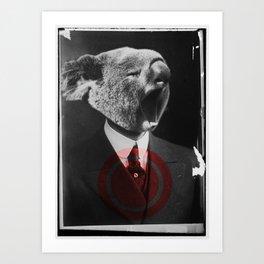 Koala Yawn Art Print
