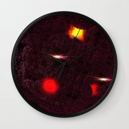 Large purple asteroid Wall Clock