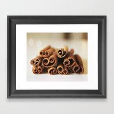 Cinnamon Sticks Bokeh Framed Art Print