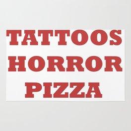 TATTOOS HORROR PIZZA Rug