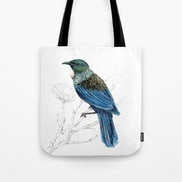 Tui, New Zealand native bird Tote Bag