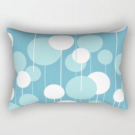 Float - Blue & White Rectangular Pillow