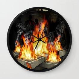 Every day we get money. Every night we burn money Wall Clock