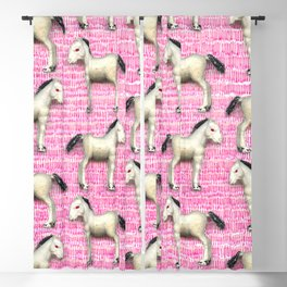 My little foal in a sea of pink Blackout Curtain