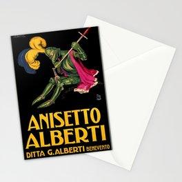 Vintage Italian Anisette Alberti Advertisement Stationery Cards