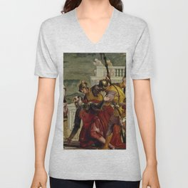 "Veronese (Paolo Caliari) ""Jesus and the Centurion"" Unisex V-Neck"