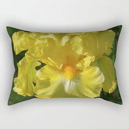 Golden Iris flower - 'Power of One' Rectangular Pillow