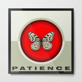 Fruit of the Spirit, Patience (Red & Ecru) Metal Print