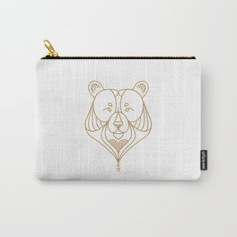 Gold Bear One Carry-All Pouch