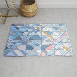 Triangle Pattern no.17 Light Blues Rug