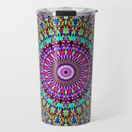Colorful Love Mandala Travel Mug