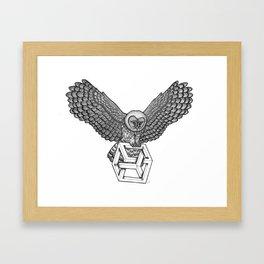 Escher Owl Framed Art Print