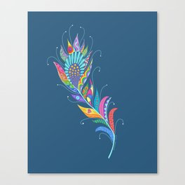 One Feather ... One World Canvas Print