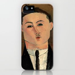 "Amedeo Modigliani ""Paul Guillaume"" iPhone Case"
