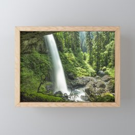 Looking Out From Under North Falls Framed Mini Art Print