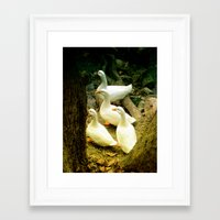 duck Framed Art Prints featuring duck by gzm_guvenc