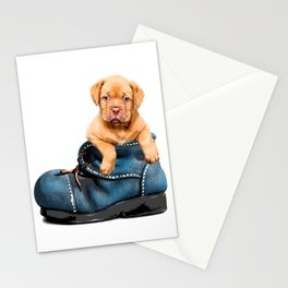 Pup In Boot Stationery Cards