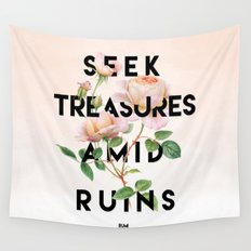Seek Treasure  Wall Tapestry