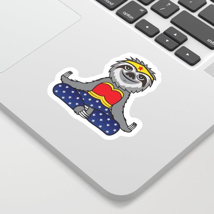 Wonder Sloth Yoga Sticker