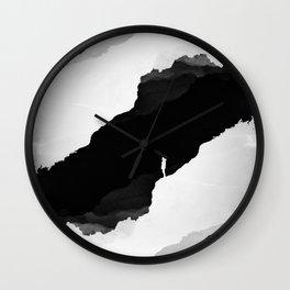 Black Isolation Wall Clock