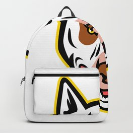 Angry Bull Terrier Mascot Backpack