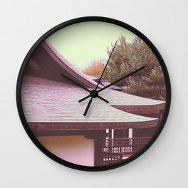 Japanese Peace Building Wall Clock