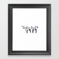 TS 1989 Framed Art Print
