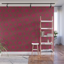 Scrolled Ringed Ikat – Jazzy Pesto Wall Mural