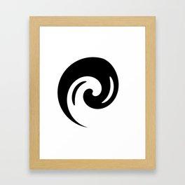 Yin Yang Exagerated Framed Art Print