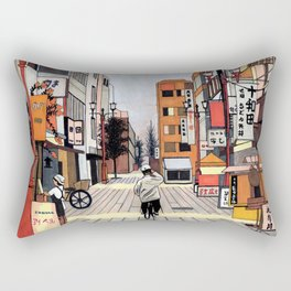 Early Morning Ride Rectangular Pillow