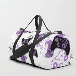 Video Game White & Lavender Duffle Bag