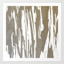 Abstract Taupe Splash Design Art Print