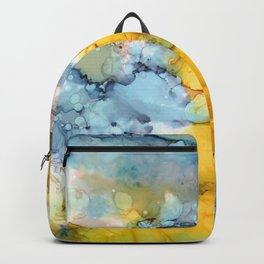 Alcohol Ink 'Fools Gold' Backpack