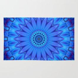 Mandala Blue Waterflower Rug