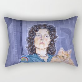 In Space No One Can Hear Your Cat Rectangular Pillow