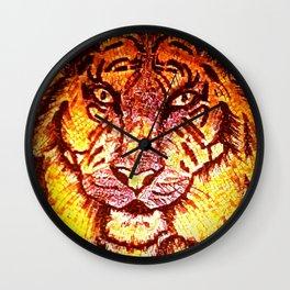 Mosaic Bengal Tiger - Enhanced Wall Clock